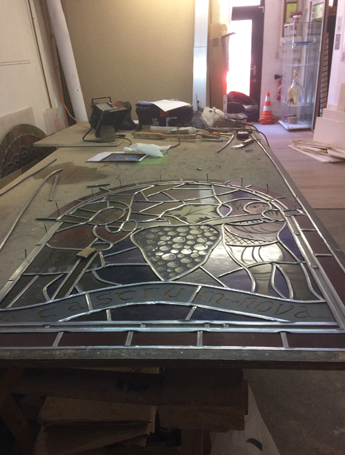 Master glassmaker stained glass windows
