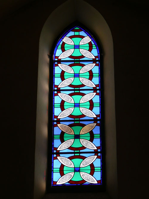 Religious building stained glass windows