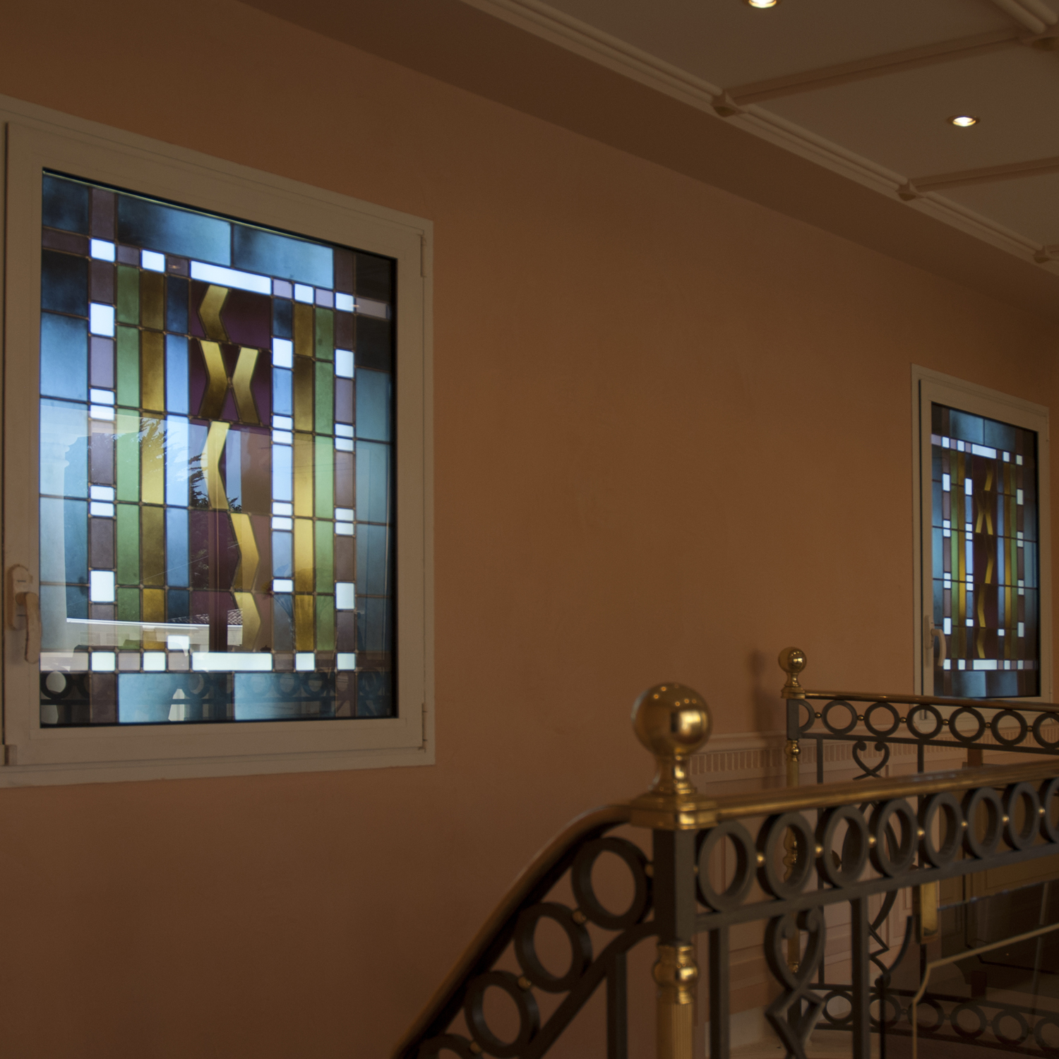 Stained glass windows decor